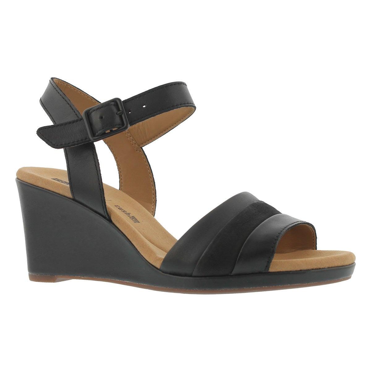 Women's LAFELY ALETHA black wedge sandals