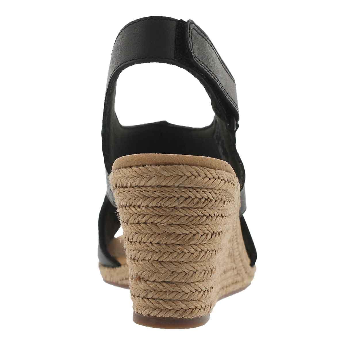 Lds Lafley Rosen black wedge sandal