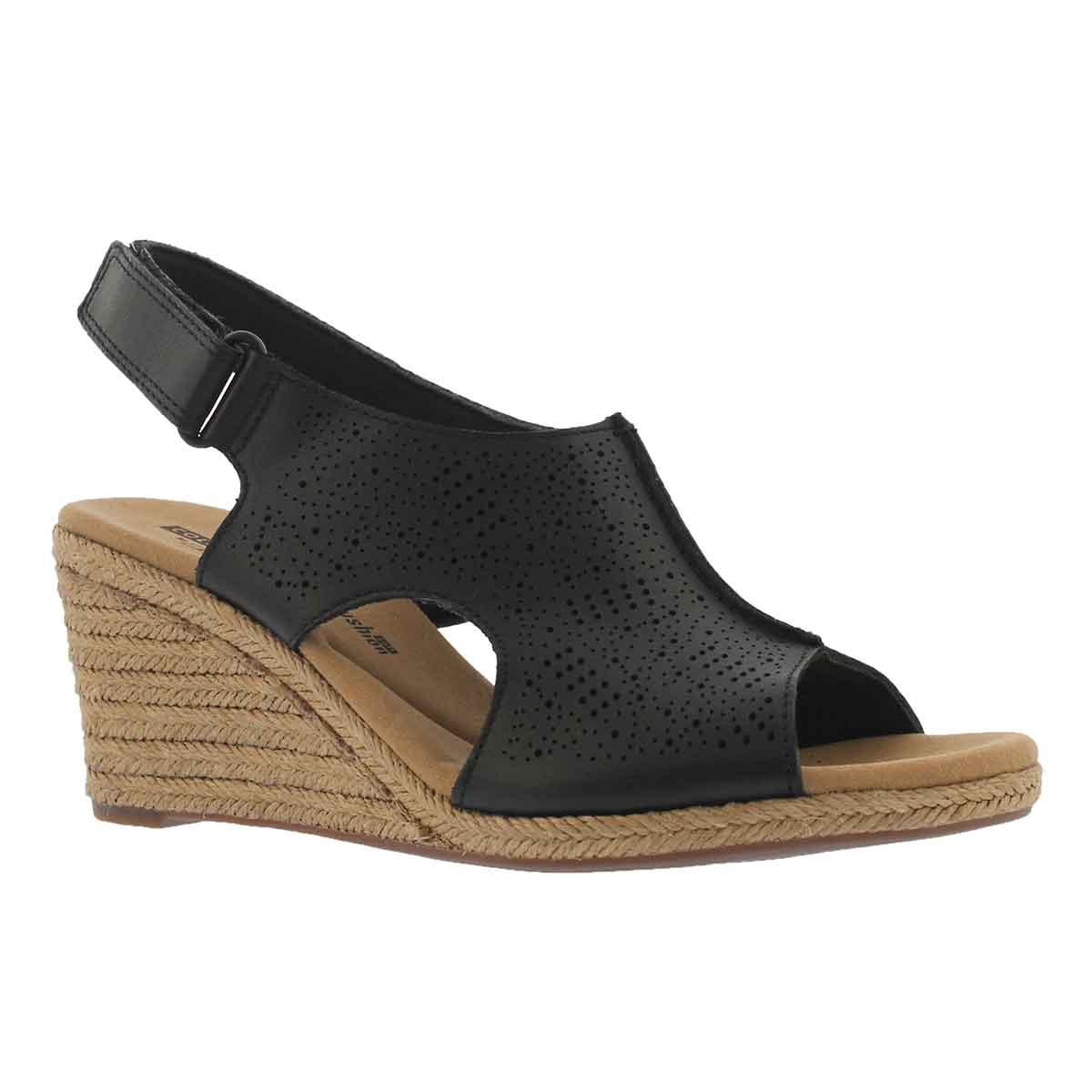 Womens LAFLEY ROSEN black wedge sandal