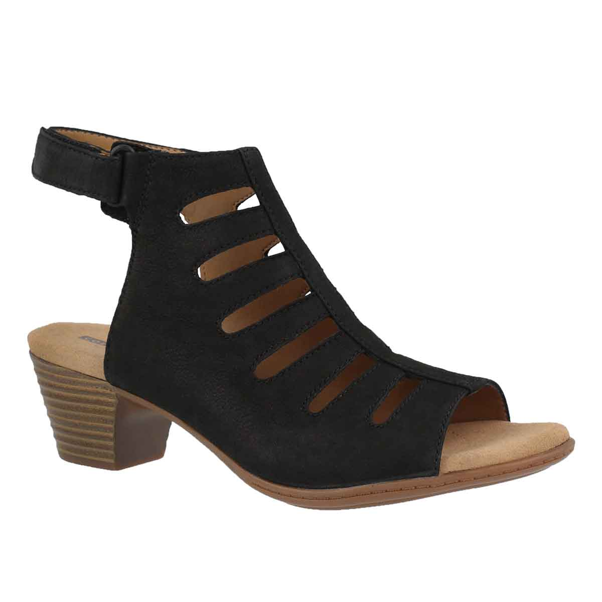 Women's VALARIE SHELLY black dress sandals