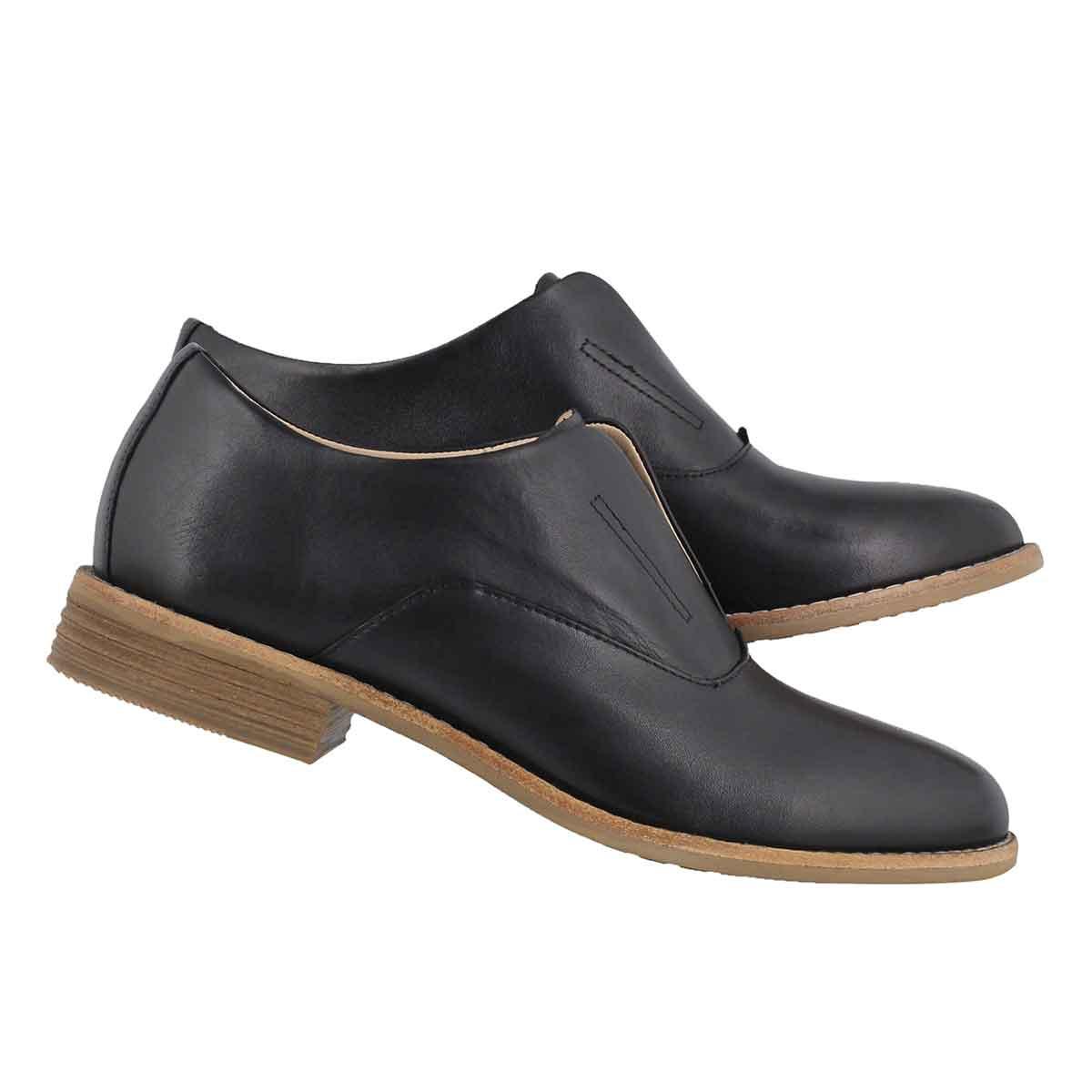 Lds Edenvale Opal black casual oxford