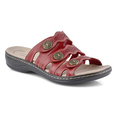 Lds Leisa Grace red casual slide sandal