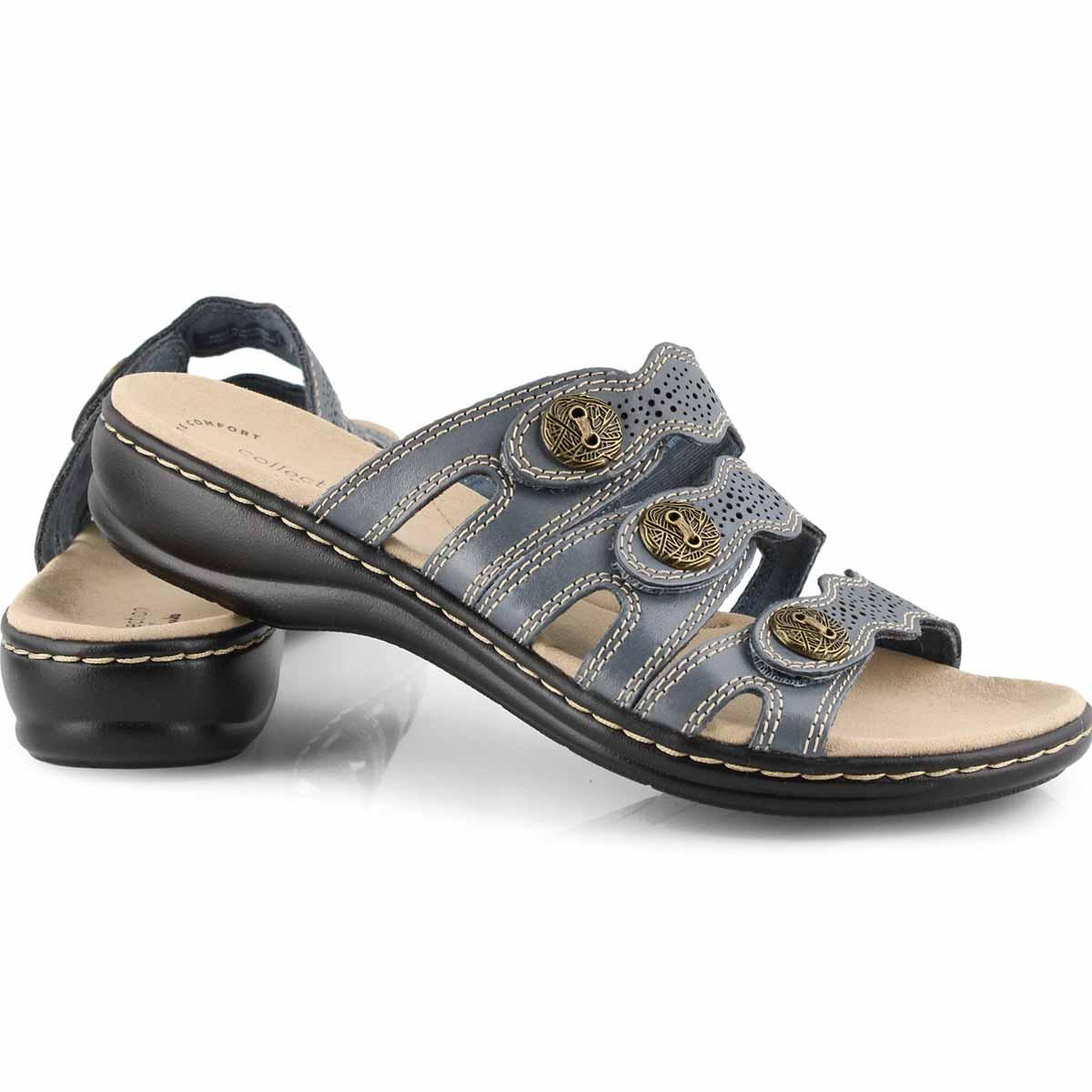 Lds Leisa Grace blue casual slide sandal