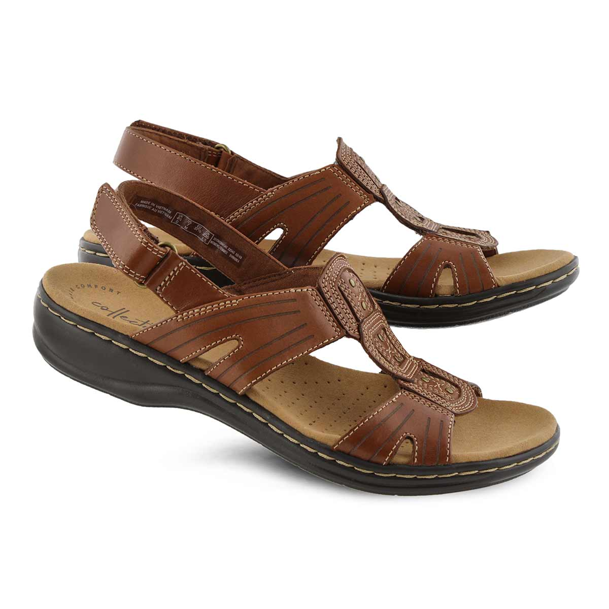 Lds Leisa Vine dark tan casual sandal
