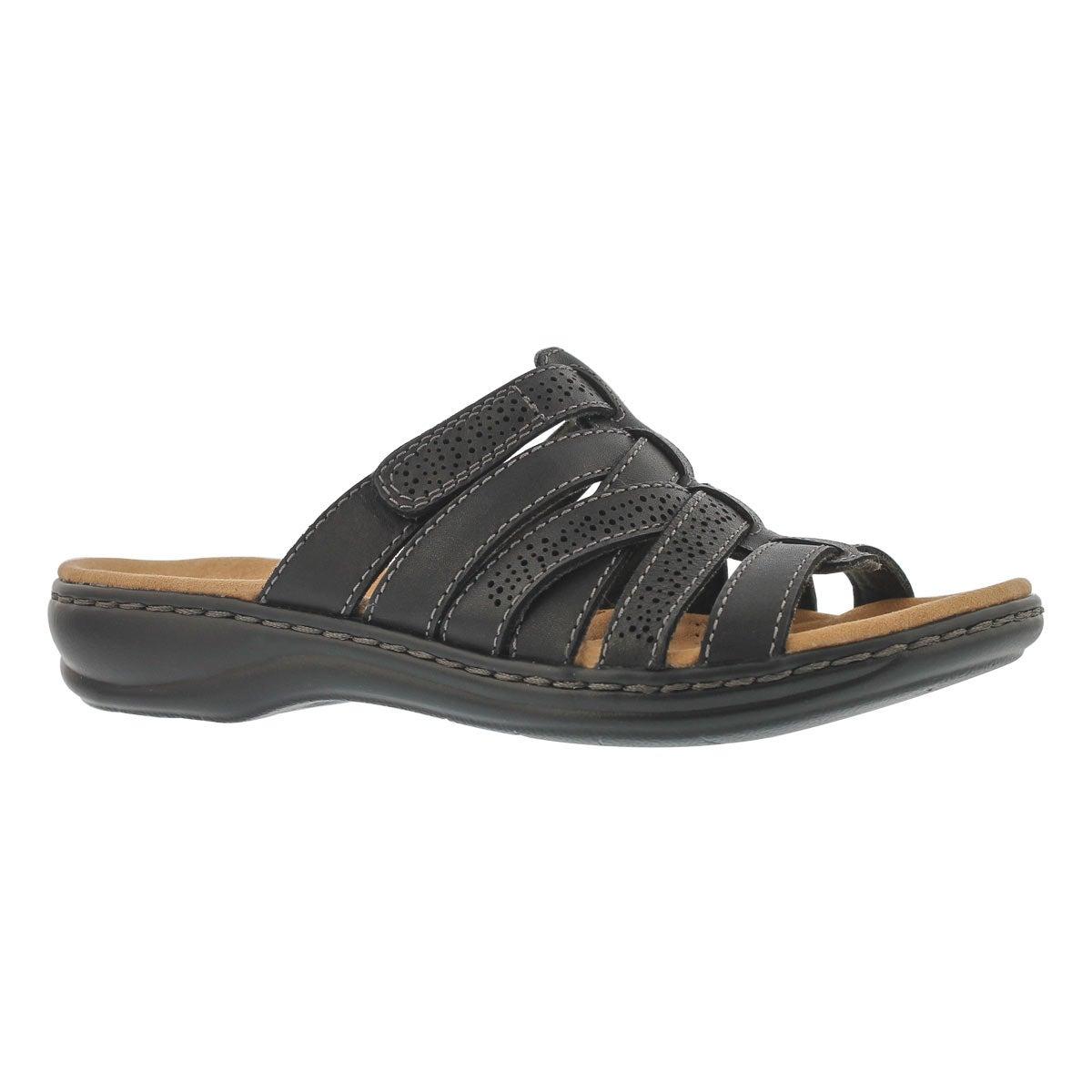 Women's LEISA FIELD black casual slide sandals