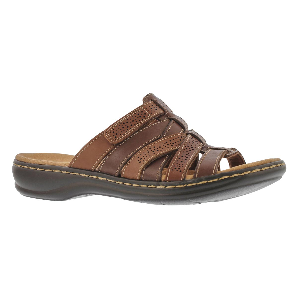 Women's LEISA FIELD brown casual slide sandals