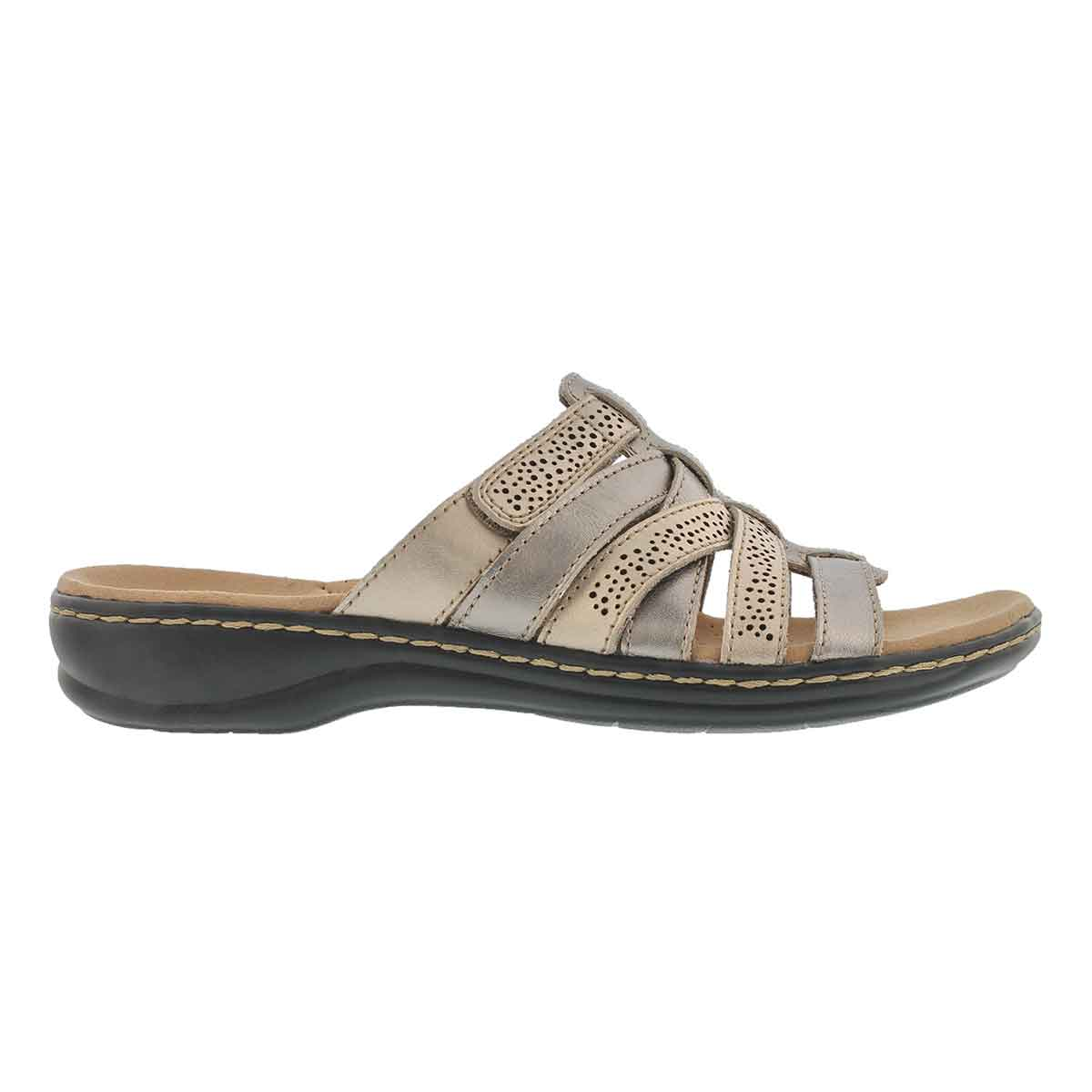 Lds Leisa Field mtlc casual slide sandal