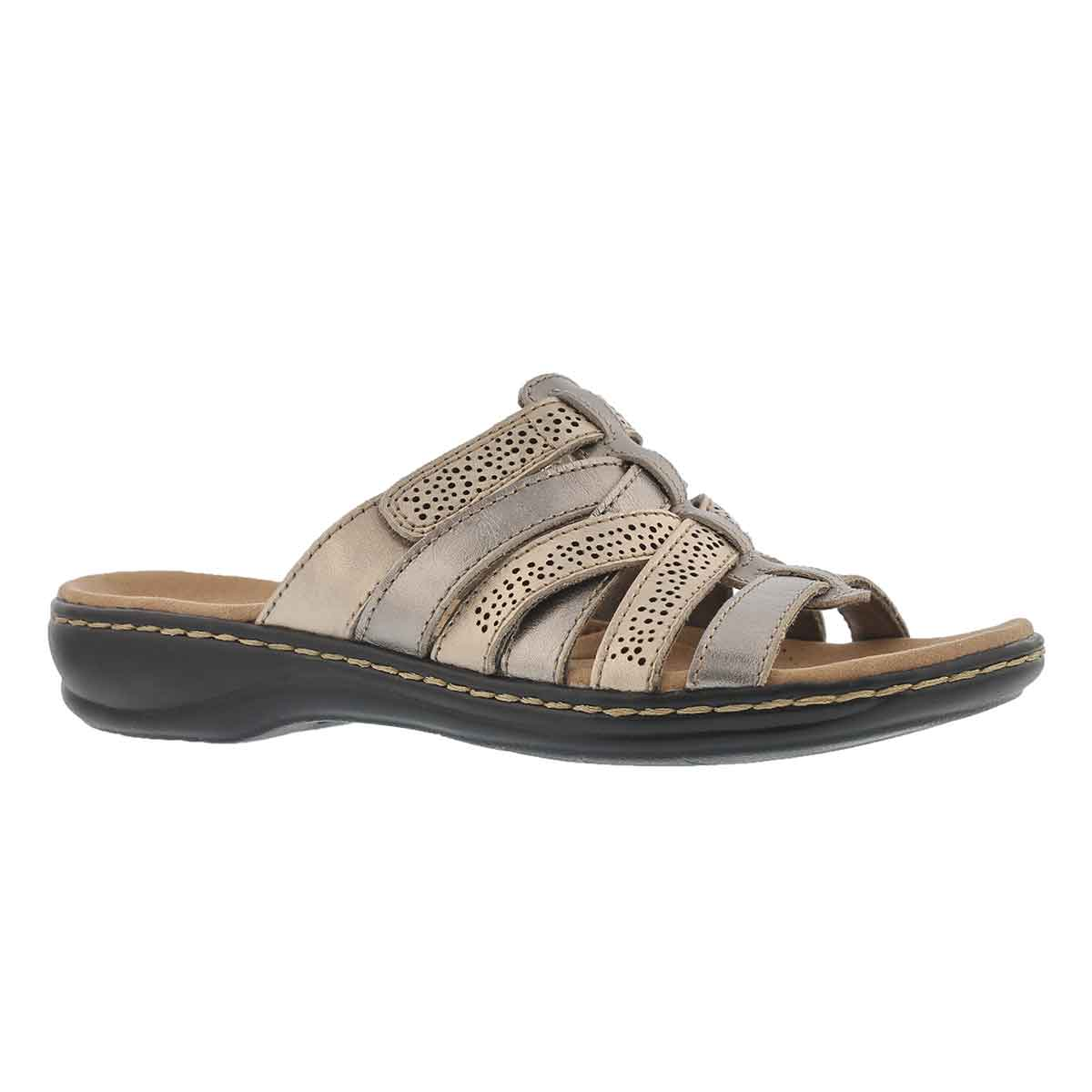 Women's LEISA FIELD metallic casual slide sandals