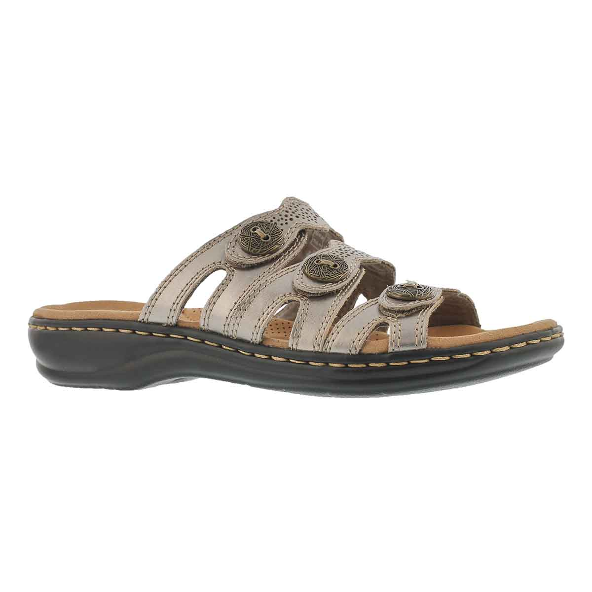 Women's LEISA GRACE pewter casual slide sandals