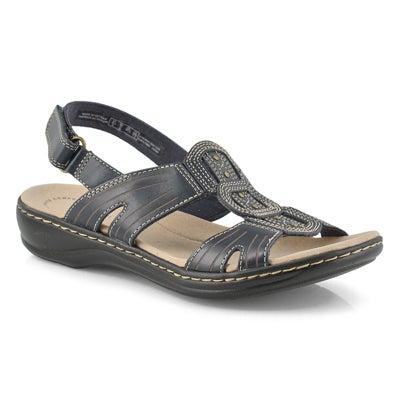 Lds Leisa Vine navy casual sandal