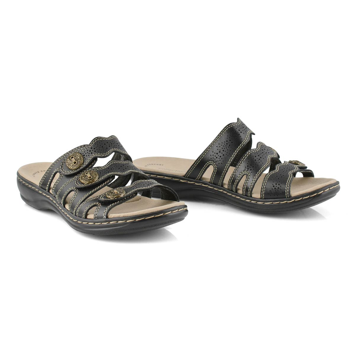 Lds Leisa Grace blk casual slide sandal