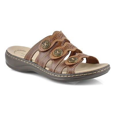 Lds Leisa Grace brn casual slide sandal