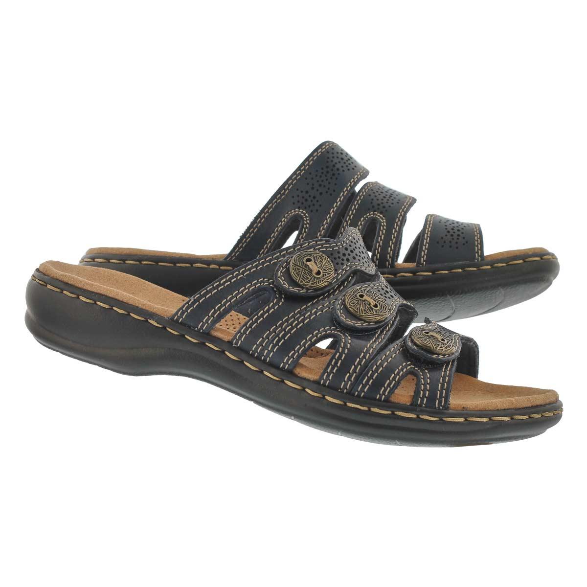 Lds Leisa Grace nvy casual slide sandal