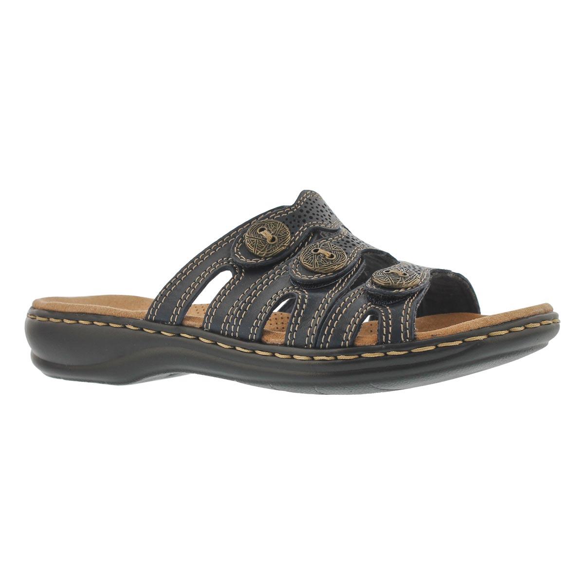 Women's LEISA GRACE navy casual slide sandals