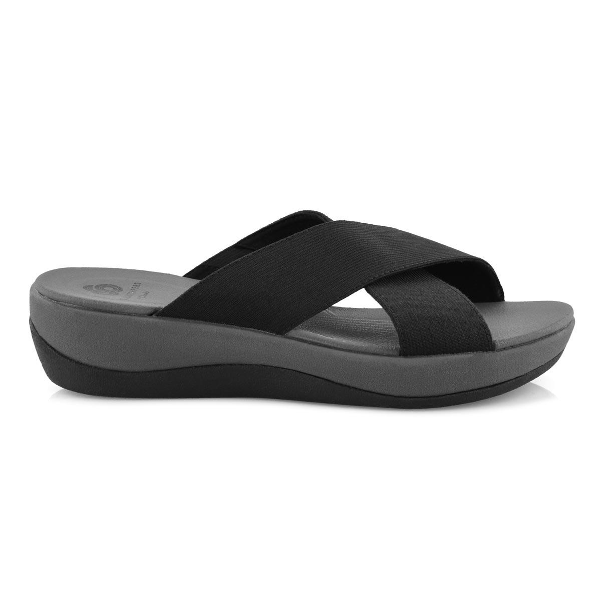 Lds Arla Elin black wedge slide sandal