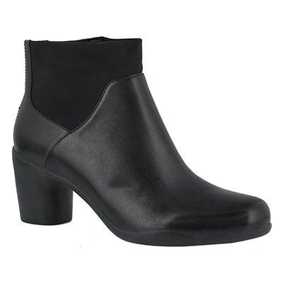 Lds Un Rosa Mid blk dress ankle boot