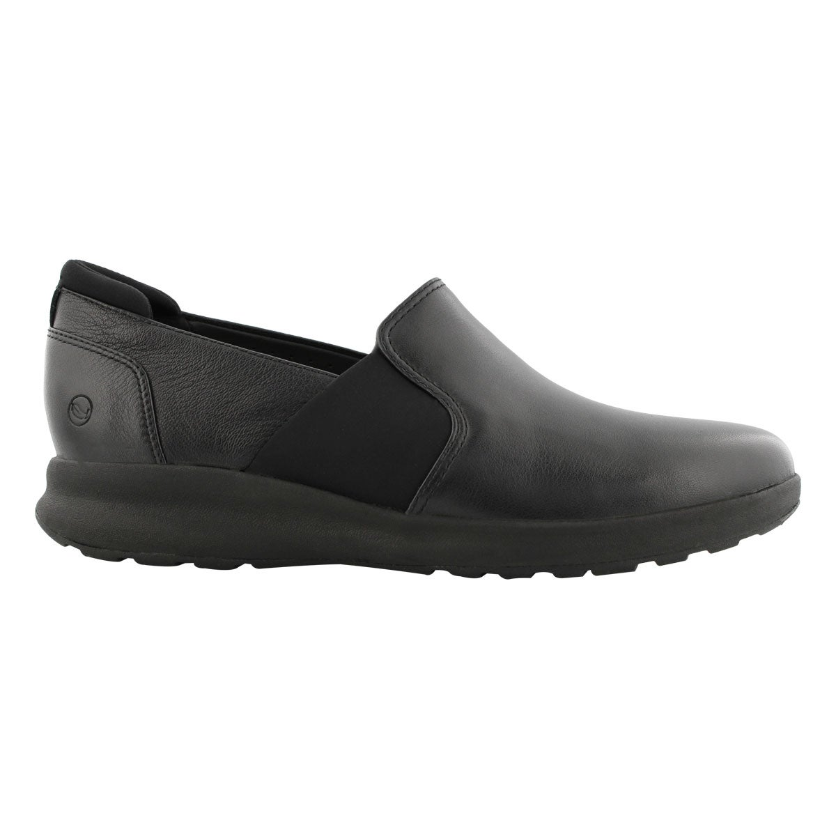 Lds Un Adorn Step black lthr slip on
