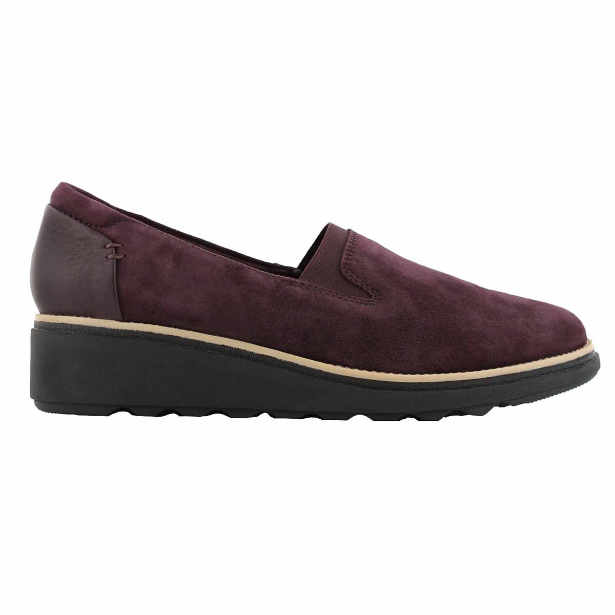 Lds Sharon Dolly aubergine casual loafer