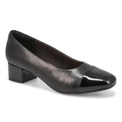 Lds Chartli Diva black dress heel-WIDE