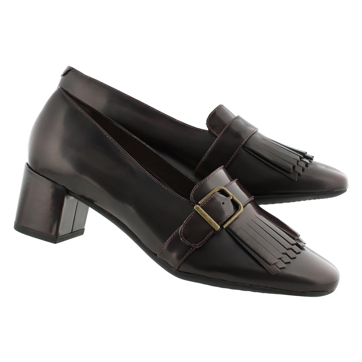 Lds Tealia Maye aubergine dress heel