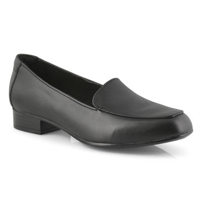 Lds Juliet Lora black dress loafer-wide