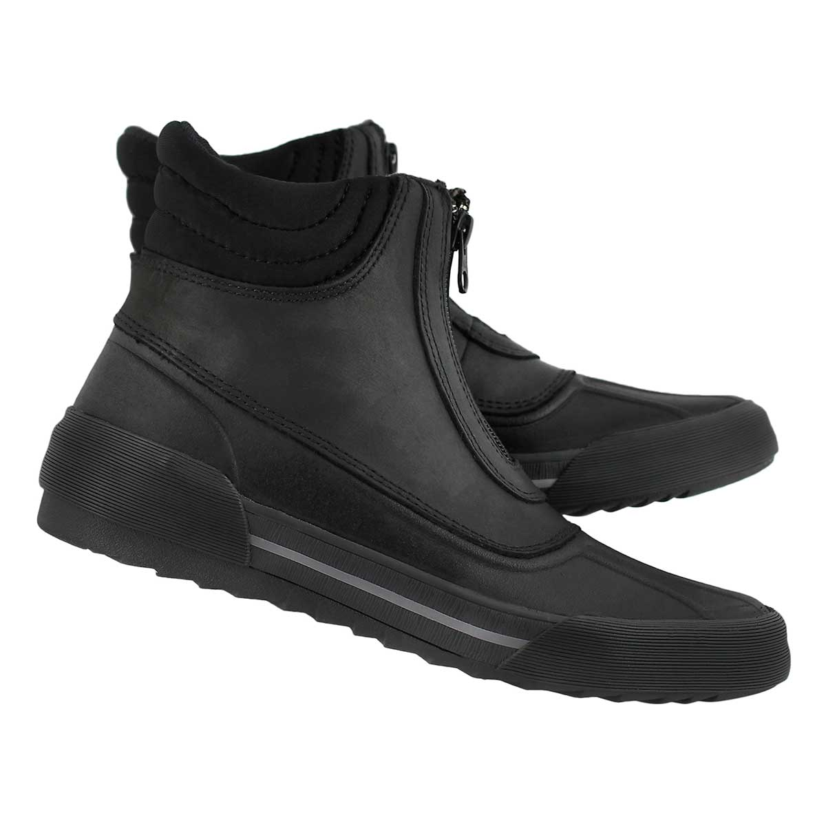 Mns Bowman Top blk wtpf leather muckers