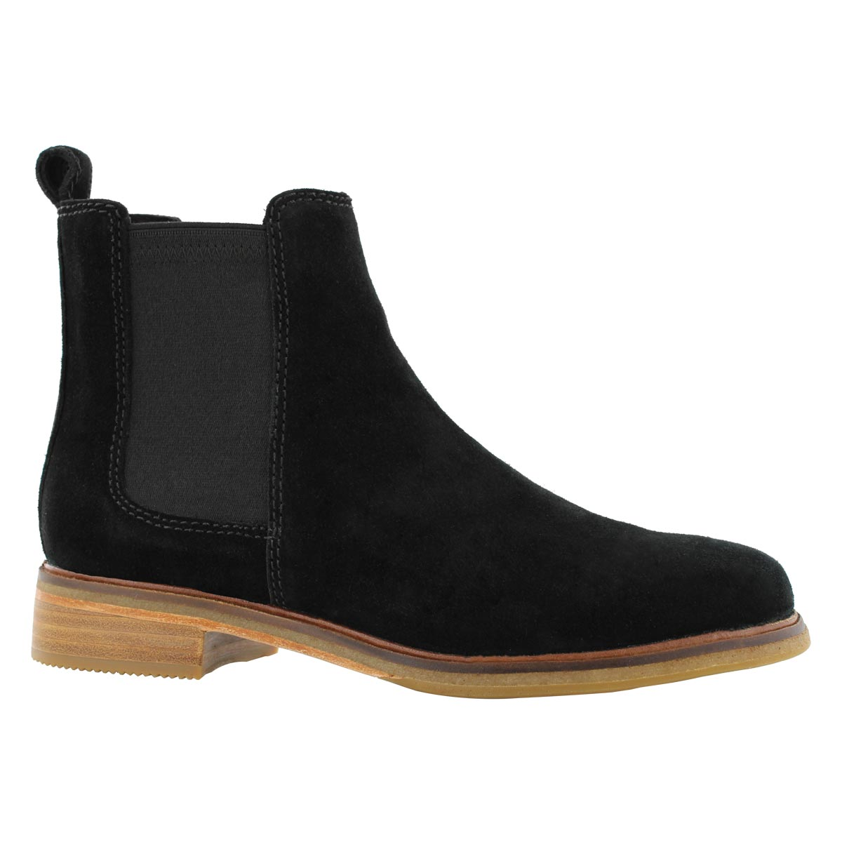 Lds Clarkdale Arlo black chelsea boot