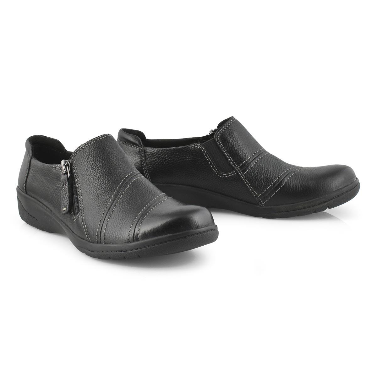 Lds Cheyn Clay black casual slip on