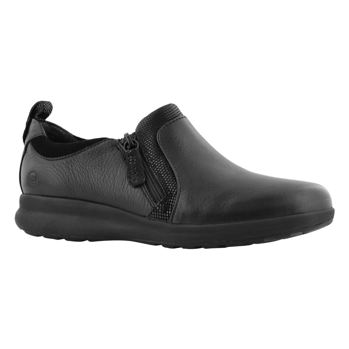 Women's UN ADORN ZIP black casual shoes