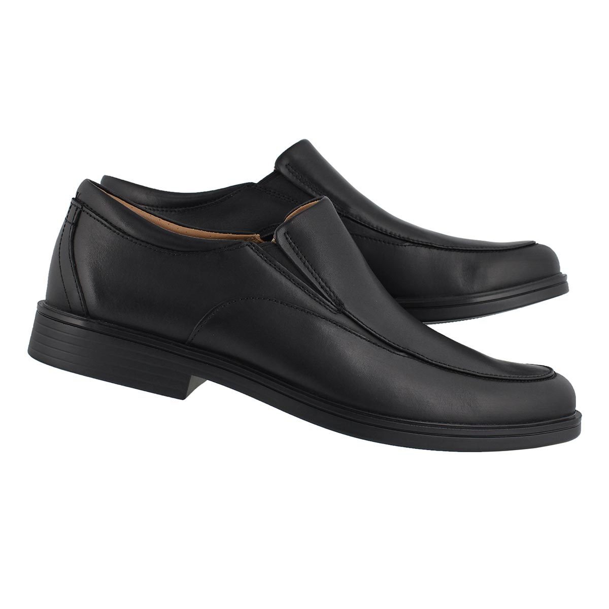 Mns UnAldric Walk blk slip on dress shoe