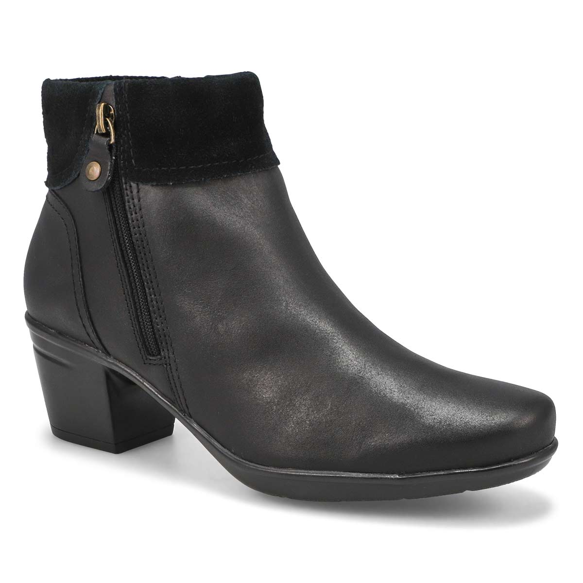 Lds Emslie Twist black ankle boot