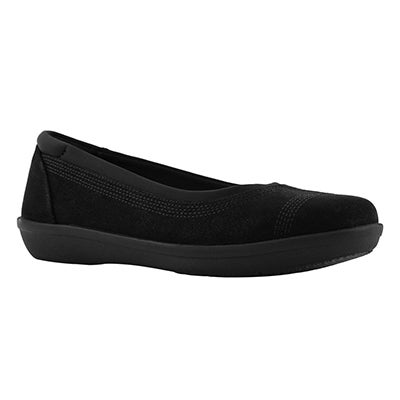 Lds Ayla Lo blk casual flat