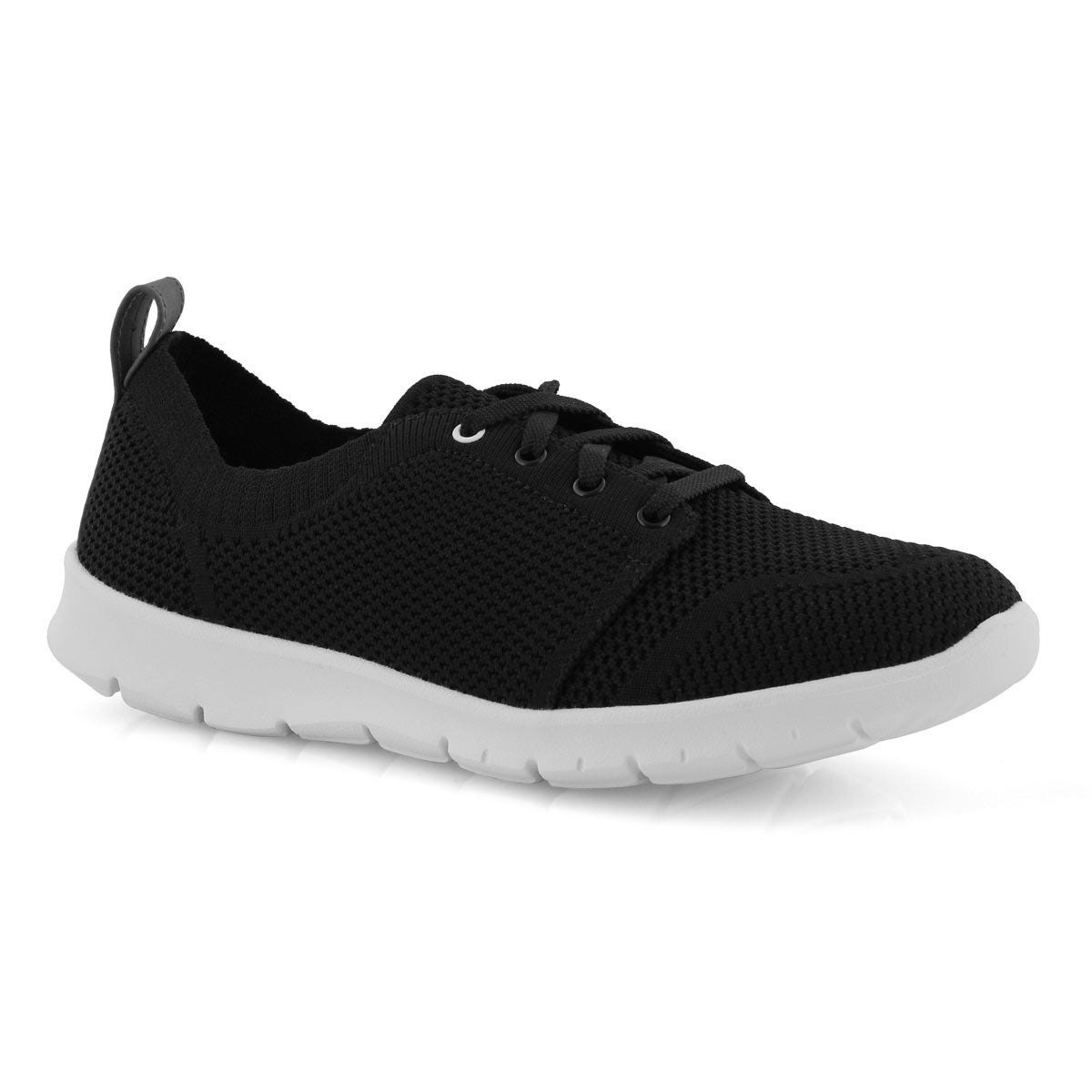 Lds Step Allena Sun blk casual shoe-wide