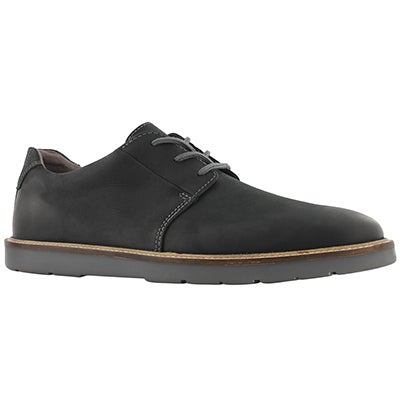 Mns Grandin Plain blk lace up oxford