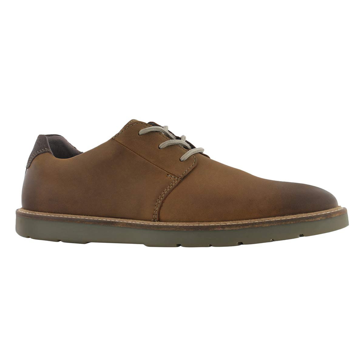 Mns Grandin Plain dk tan lace up oxford