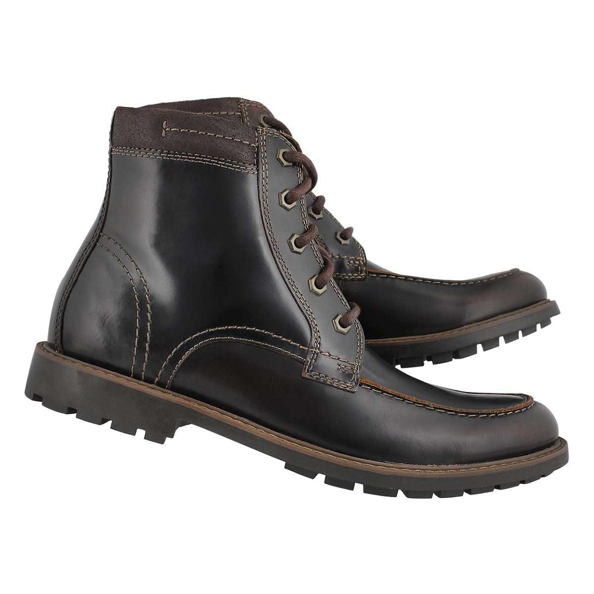 Mns Curington High dkbrn laceup ank boot