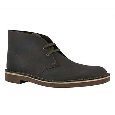 Mns Bushacre 2 dk olive lthr desert boot