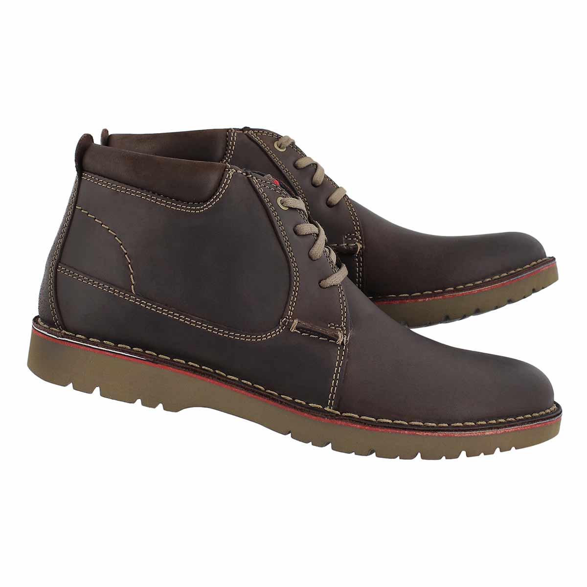 Mns Vargo Mid dark brown chukka boot