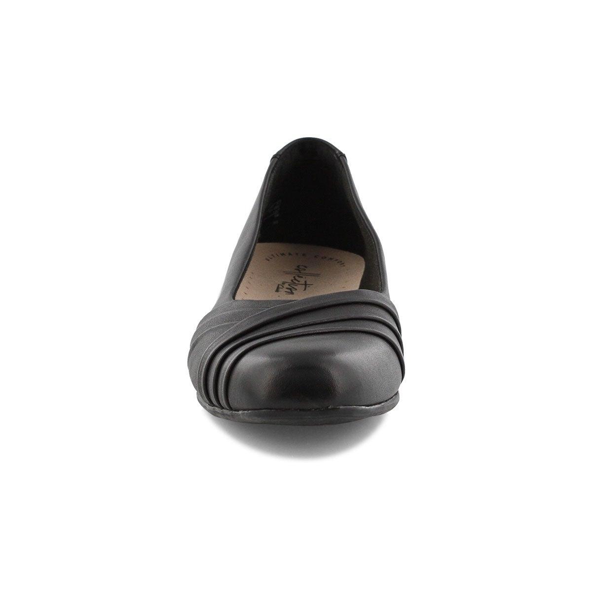 Lds Juliet Petra blk slip on dress heel