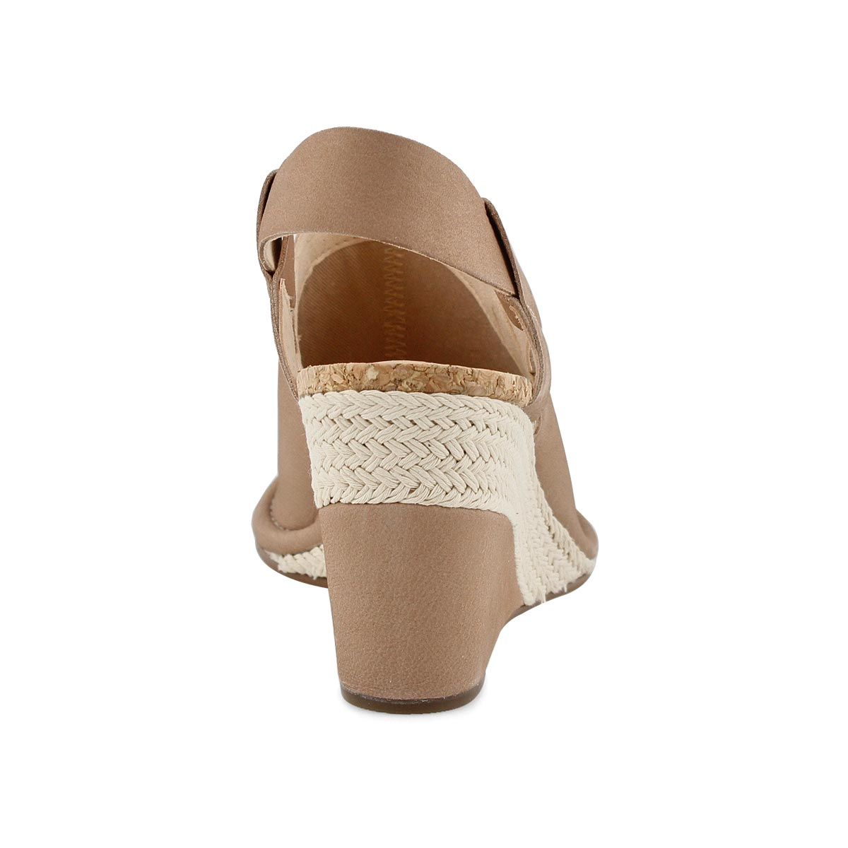 Lds Spiced Bay nude dress wedge sandal