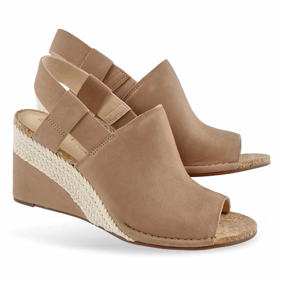 Lds Spiced Bay nude dress wedge sandal