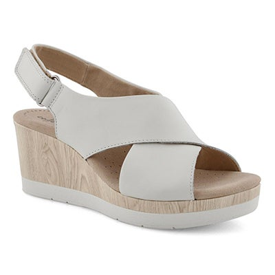 Lds Cammy Pearl white wedge sandal