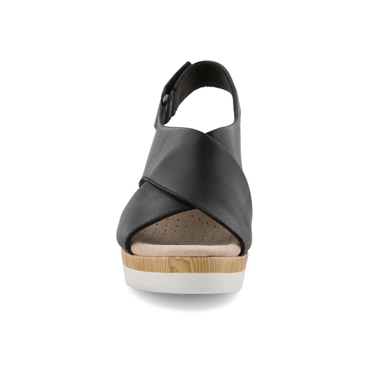 Lds Cammy Pearl black wedge sandal