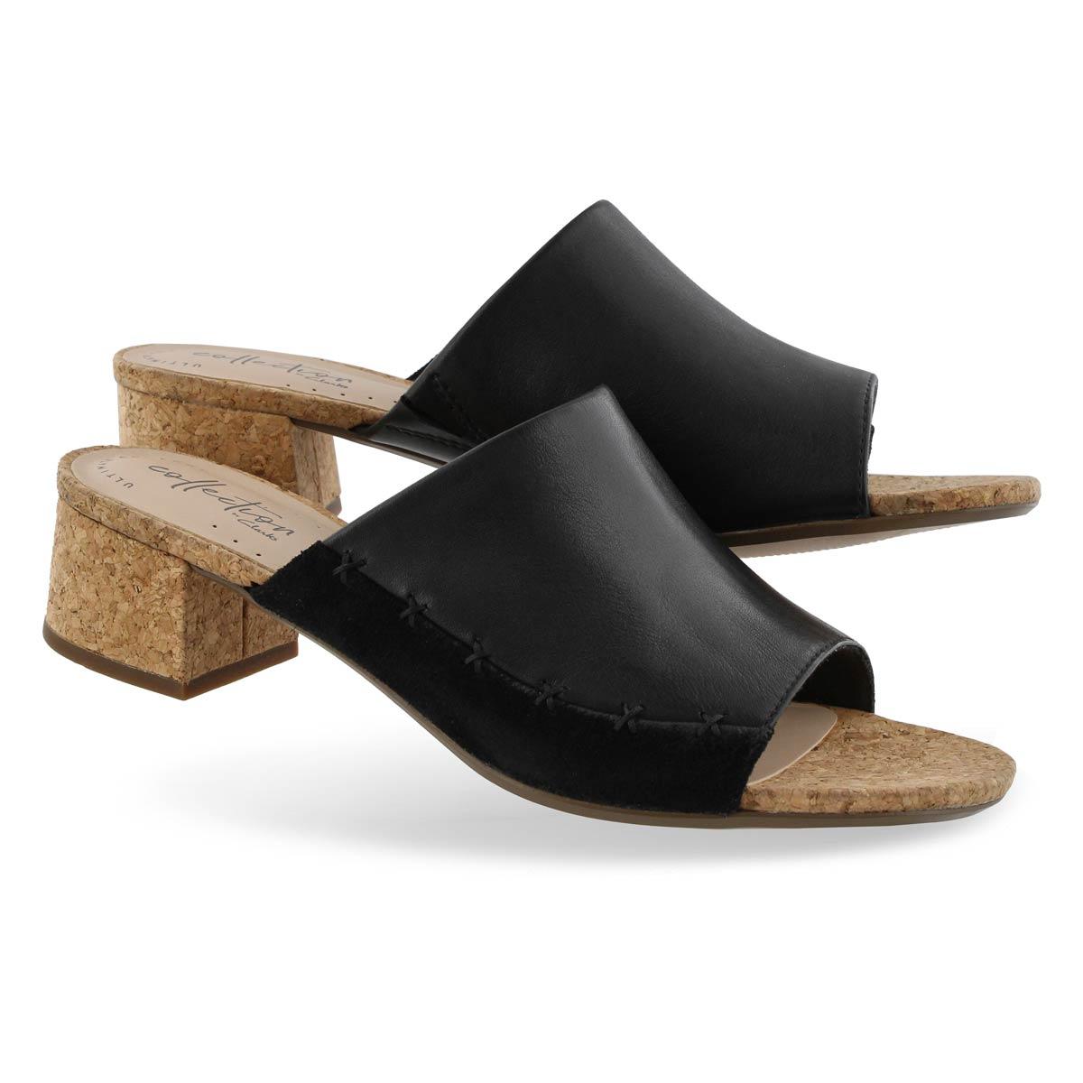 Lds Elisa Abby black dress slide sandal