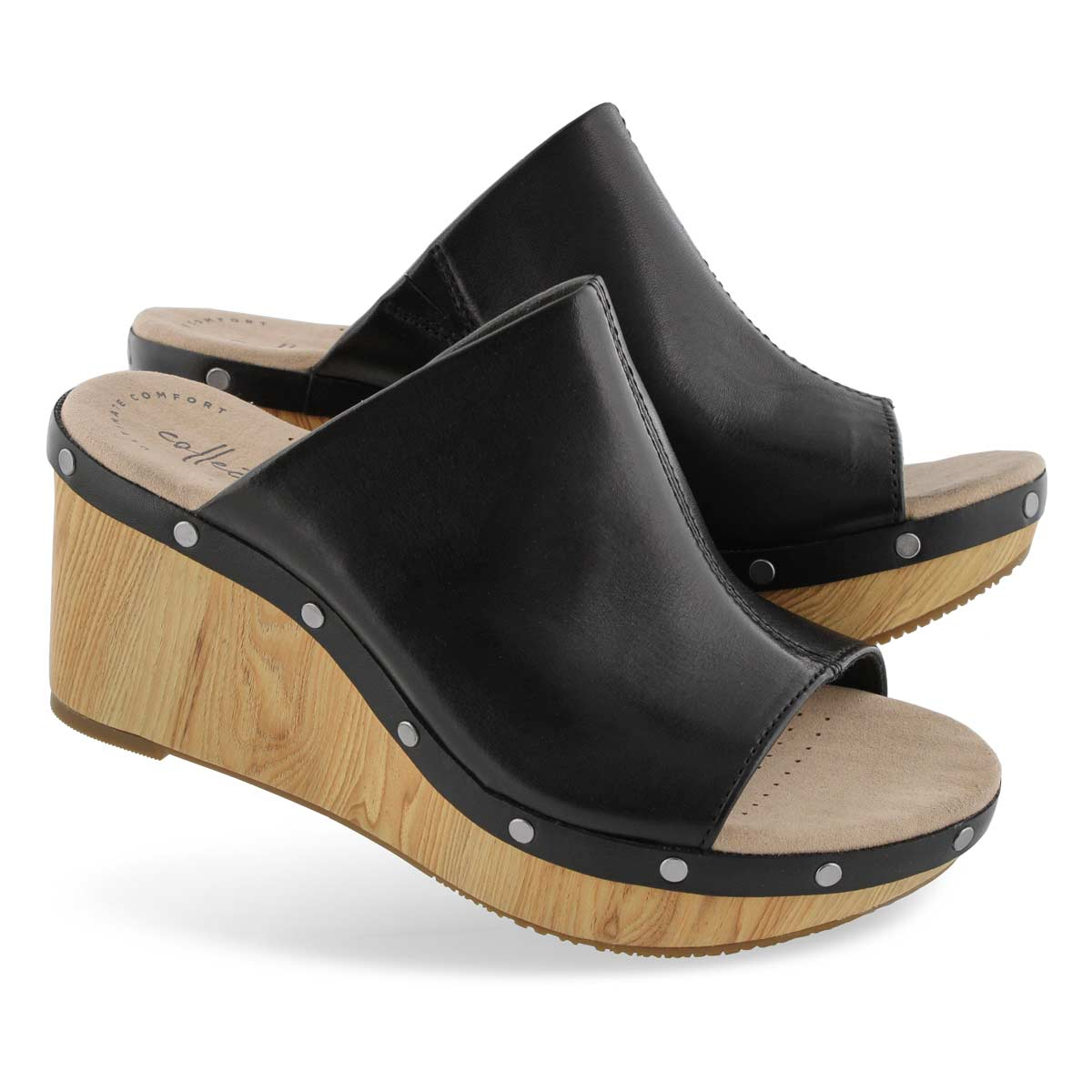 Lds Annadel Molly black wedge sandal