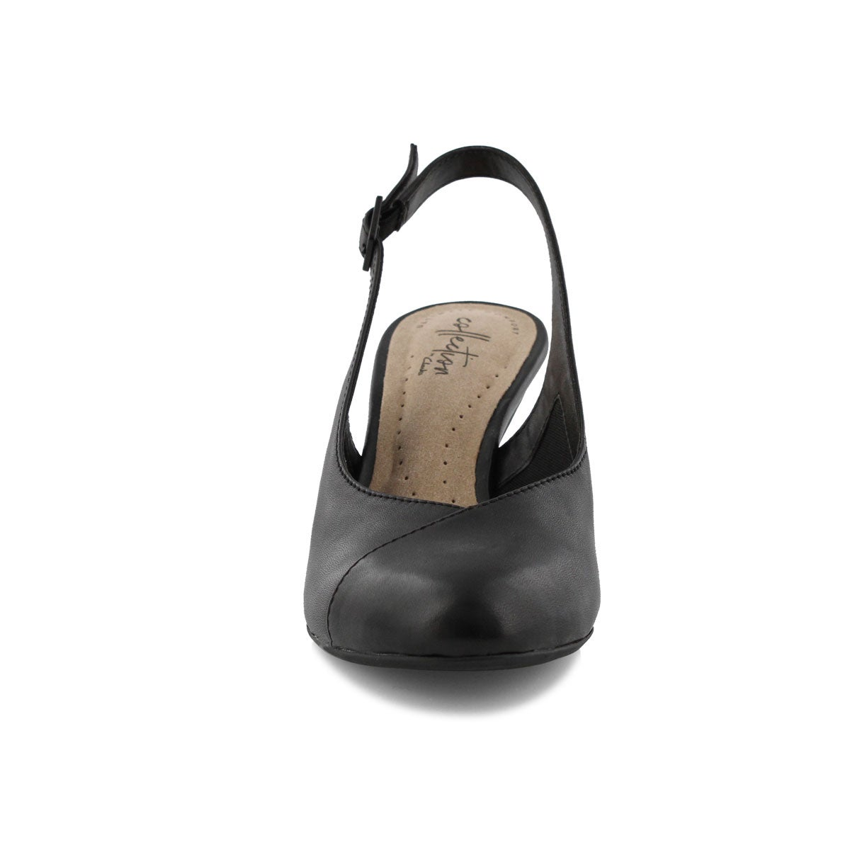 Lds Dancer Mix blk sling back heel