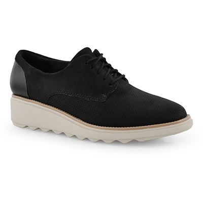 Lds Sharon Crystal black wdge oxford
