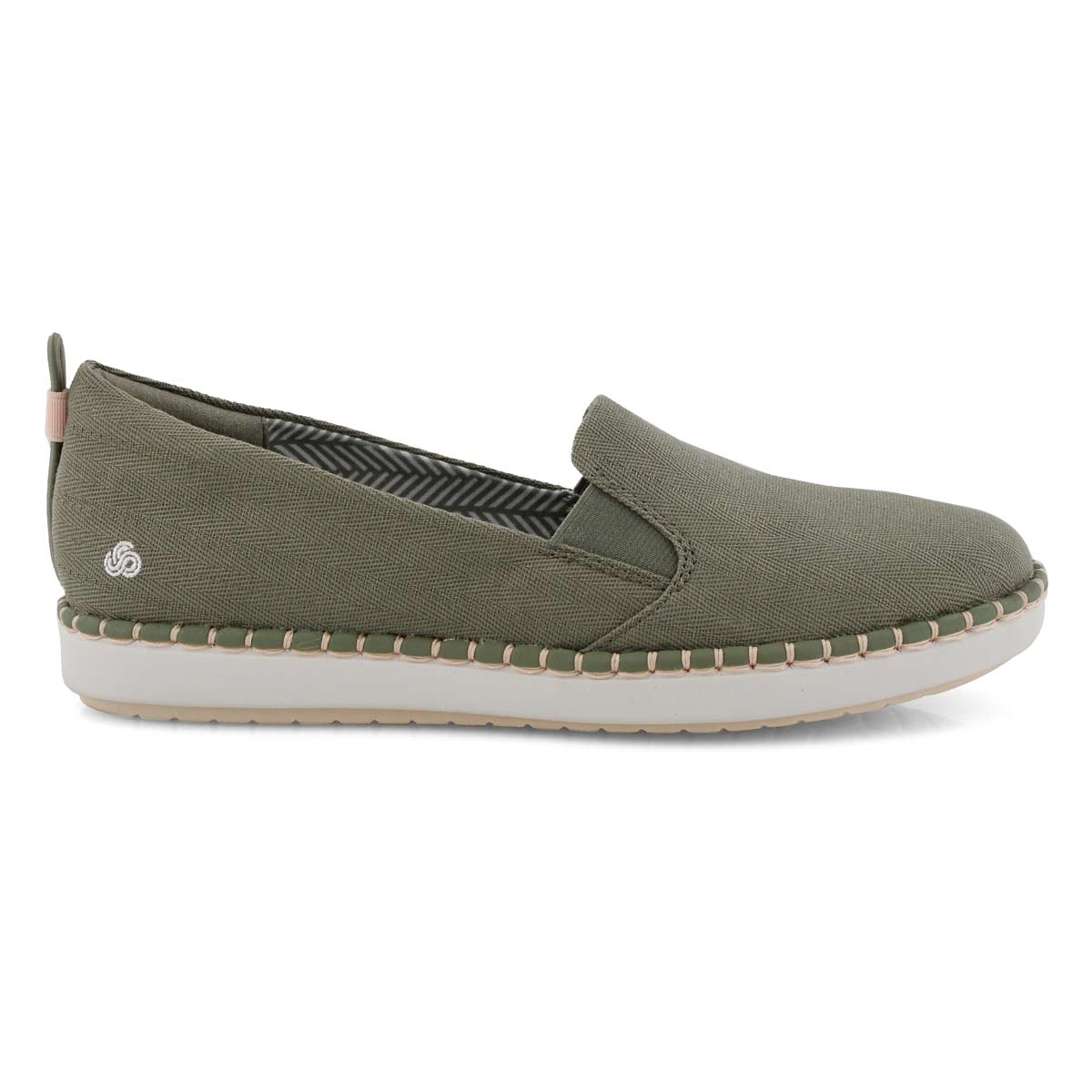 35537a7bea43 Clarks Women s STEP GLOW SLIP olive casual lo