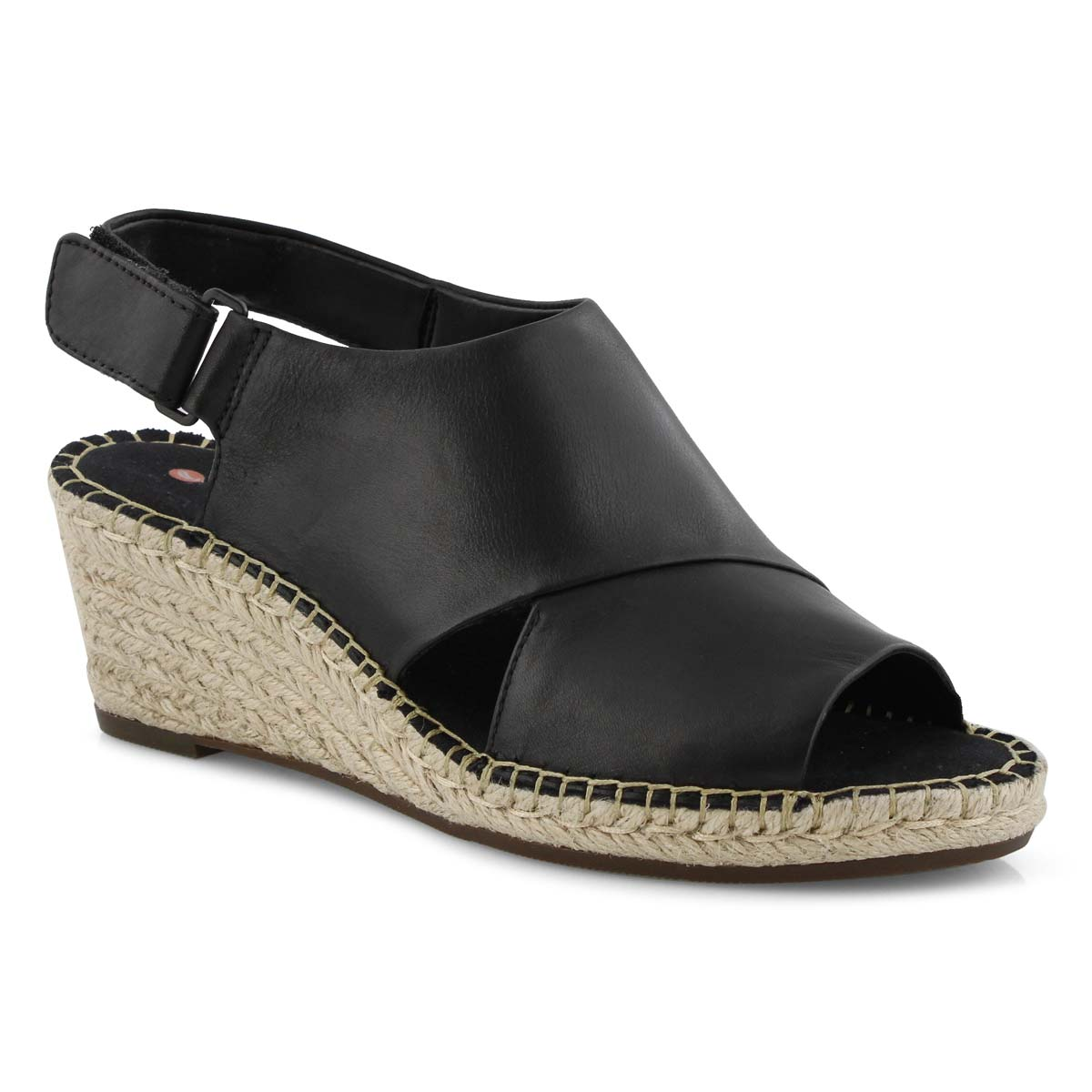 Lds Petrina Abby blk wedge sandal