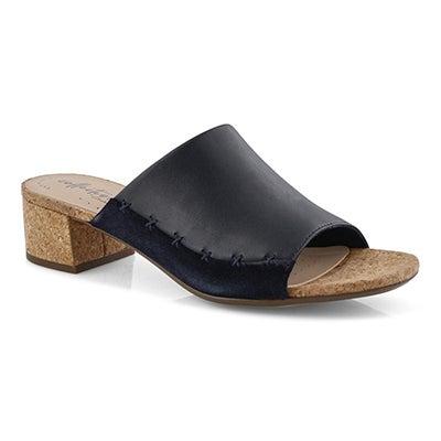 Lds Elisa Abby navy dress slide sandal